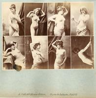 Calavas, France, Paris, études de nues pour peintre    Vintage albumen printsn