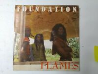 Foundation ‎– Flames Vinyl LP 1988 ROOTS REGGAE
