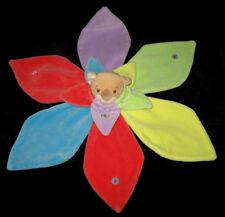 Doudou Koala Coco beige jaune vert bleu rouge Takinou Nounours pétales feuilles