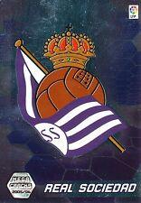 N°289 ESCUDO BADGE # REAL SOCIEDAD TRADING CARD PANINI MEGACRACKS LIGA 2006