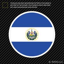 Round Salvadoran Flag Sticker Die Cut Decal Self Adhesive Vinyl El Salvador SLV