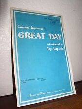 Choral Music: Vincent Youmans' Great Day arr.Roy Ringwald (SATB)Shawnee A-1302