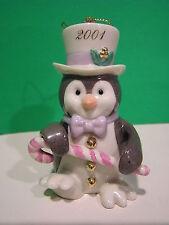 Lenox 2001 Annual Penguin Ornament New in Box with Coa