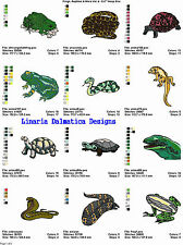 Frogs, Reptiles & More V4 (5X7)Multi-Format Machine Embroidery Designs on Cd-Rom
