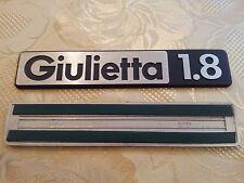 sigla GIULIETTA 1.8 alfa romeo scritta posteriore fregio originale rear sign