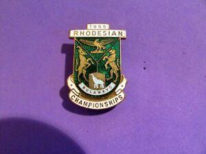 Vintage 1955 Rhodesian Bulawayo Championships Pin