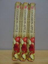 Cinnamon- Apple Incense  3 Packs x 20 Sticks  HEM Hex   Free Post AU