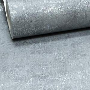 Charcoal Slate Grey Metallic Industrial Texture Silver Distressed Concrete New