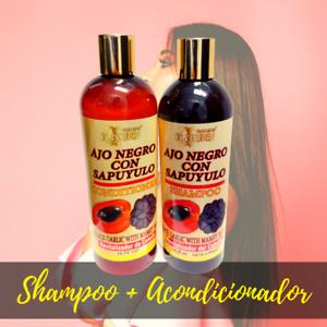 Combo Acondicionador Shampoo Para Controlar La Caspa y Humectar Zapote Sapuyulo