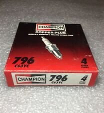 796 C63YC Champion Spark Plugs - Box of 4 - NEW In Box NOS - Made in USA