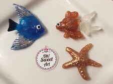 Aquarium III, goldfish, fish, shells, Sea Star Sugar isomalt  EDIBLE toppers