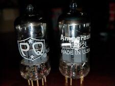 6922 GOLD PIN, VINTAGE 1962 AMPEREX PQ  TUBES NOS TESTED premium 6DJ8 / ECC88