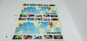 USA~1941: A WORLD AT WAR~FULL SHEET OF 20 MINT-NH 29 CENT