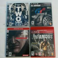 playstation 3 ps3 Video game lot Metal gear, Gran Turismo, Imfamous Army of 2