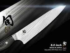 """Shun Nagare Chef's Knife 8"""" Damascus Handcrafted VG-2 & VG-10 Steel Ndc-0706"""