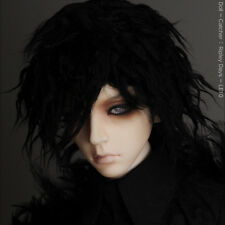 "Dollmore Artificial Mohair SD wig (8-9)""  Short Style Wig (Black)"