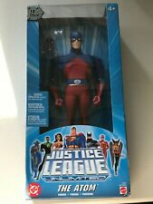 "DC JUSTICE LEAGUE UNLIMITED THE ATOM 10"" FIGURE 2005 MATTEL BRAND NEW"