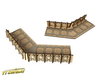 TTCombat - Si-Fi Gothic - SFG039 - Fortified Trench Small Corner Sections