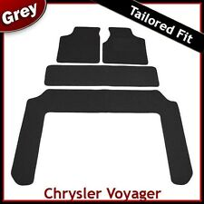 Chrysler Voyager Mk4 2001-2007 Tailored Fitted Carpet Car Floor Mats GREY