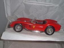 BURAGO 1/18 SCALE FERRARI 250 TESTA ROSSA 1957 3007 IN RED UNBOXED A NICE MODEL