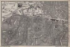 Bolonia alrededores. Certosa. Madonna di San Luca. Santo Michele en Bosco 1913 Mapa