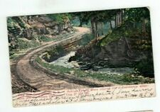 NY Cooperstown New York antique 1906 post card Mohican Canyon View