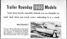 1960 Magazine Photo Mastercraft Voyager Boat Trailers