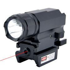 1000LM CREE XPG-R5 LED CR123 tactique Lampe Mont 20mm & Laser Rouge DOT Sight