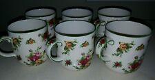 royal albert old country roses casual cream mugs 6