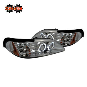 Ford Mustang 94-98 Chrome Halo Projector 1PC Headlight Corner GT Cobra SVT 4.6L