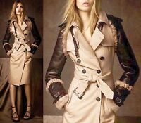 $4,995 Burberry Prorsum 8 10 42 LIMITED Trench Leather Shearling Women Lady Gift