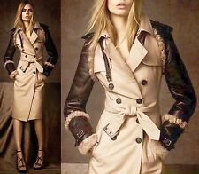 SALE! $4,995 RUNWAY Burberry Prorsum 8 10 42 Leather Shearling Trench Women 1
