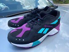 Reebok Aztrek Black Teal Purple Unisex Shoes Retro Sneakers Size 10 NewDV3943