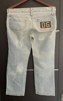 Dolce & Gabbana Womens Ladies Denim Jeans Pants Size 6 / 42 Brand New Authentic