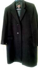 Black Coat Full Length Wool Blend Kashmir Rex Excellent Condition Custom Made