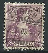 1907 SVIZZERA USATO HELVETIA 15 CENT - G036