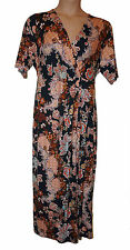 BNWT size 20 Regular Length CLASSIC for M&S SHORT SLEEVE MAXI DRESS in BLACK MIX