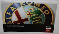 Uso e manutenzione Alfa Romeo 156