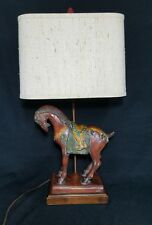 Mid-Century  Frederick Cooper Tang Horse Figural Table Desk Lamp