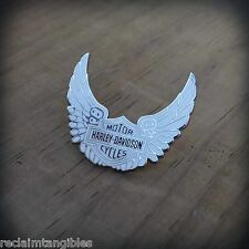 Harley Davidson Authentic Pin - HD Classic White Wings - Metal Insignia