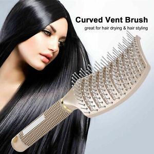 Salon Professional Massage Comb Anti-Static Curved Vent Hair Brush Styling Scalp