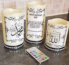 Arabic LED Candle for Gift 3in1 Calligraphy with Happy birthday wishes.