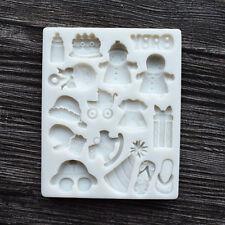 Baby Shower Fondant Sugarcraft Molde de Silicona Decoración Pasteles Molde Para Chocolate