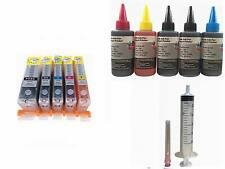 5 Pre-filled Refillable ink cartridge for Canon 250 PGI-250 CLI-251 251XL + ink