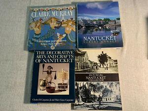 NANTUCKET MASSACHUSETTS BOOK LOT OF 4 large Arts, Sights, History, Crochet