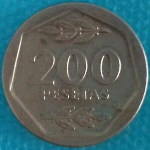 MONNAIE ESPAGNE - PIÈCE 200 PESETAS 1987 Ref 0004 *