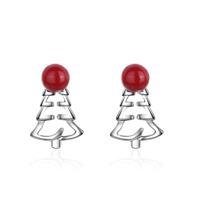 Cute Fashion 925 Sterling Silver Christmas Tree Stud Drop Xmas Party Earrings