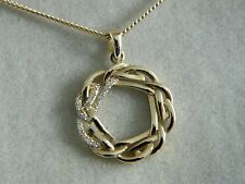 Clogau 9ct Yellow Welsh Gold Eternal Love Diamond Circle Pendant RRP £650.00