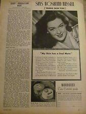 Rosalind Russell, Woodbury Powder, Vintage Print Ad
