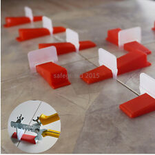 200 Tile Leveling System -  100 Clips + 100 Wedges - Plastic Spacer Tiling Tools